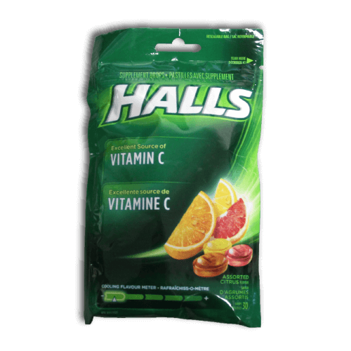 Halls Vitamin C Supplement Drops (Assorted Citrus) - BiosenseClinic.com