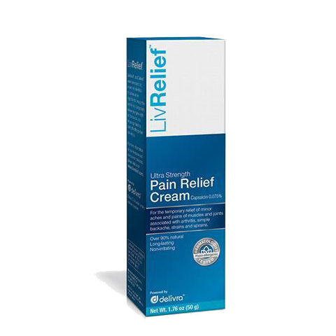 LivRelief - Pain Relief Cream- 50 grams - BiosenseClinic.ca