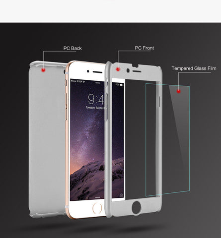 360° Slim Case for iPhone 6/6s 6 Plus/6s Plus