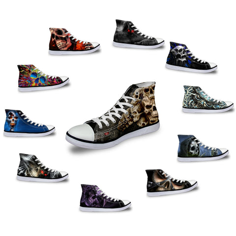 Canvas Skull Shoes