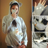 Cute Cat Lovers Hoodie With Cuddle Pouch