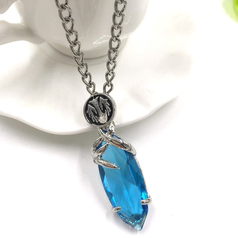Final Fantasy Blue Crystal Necklace