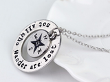 """Not All Who Wander Are Lost"" Necklace - Click N' Shopp"