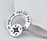 """Not All Who Wander Are Lost"" Necklace   ★Free Shipping★ - Click N' Shopp"