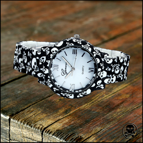 Skull Printed Watch