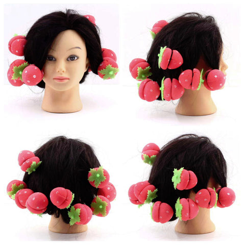 12 pcs Strawberry Shape Rollers - Click N' Shopp