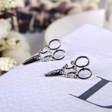 Vintage Scissor Stud Earrings