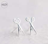 925 Scissor Stud Earrings - Click N' Shopp