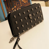 Black Skull Wallet Purse