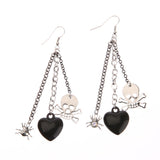 Skull, Heart and Spider Earrings - Click N' Shopp