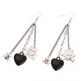 Vintage Skull, Heart and Spider Earrings