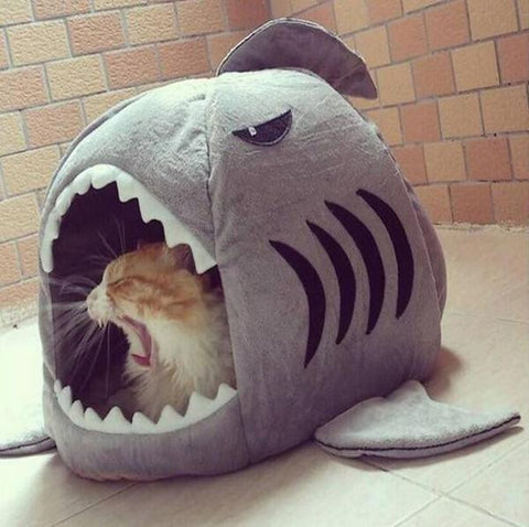 Shark Pet House with Removable Bed Cushion ★Free Shipping★ - Click N' Shopp
