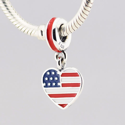 USA Heart Flag Charm - Click N' Shopp