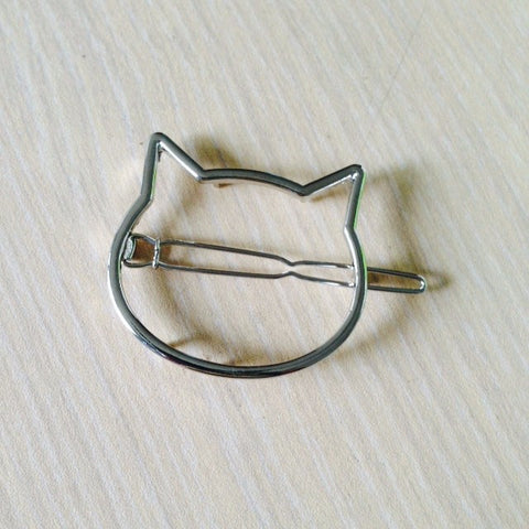 Cat Head Hair Clip