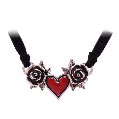 Flower Heart Choker