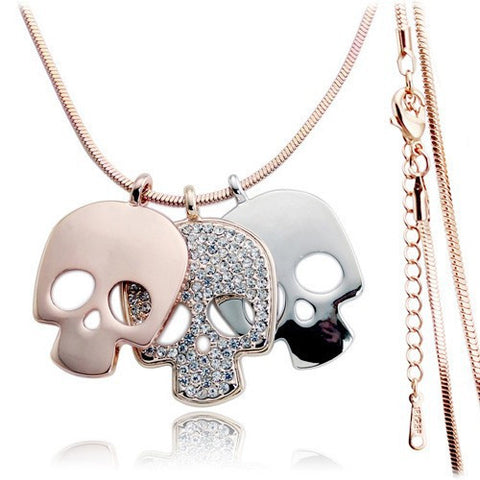 3 Skulls Necklace