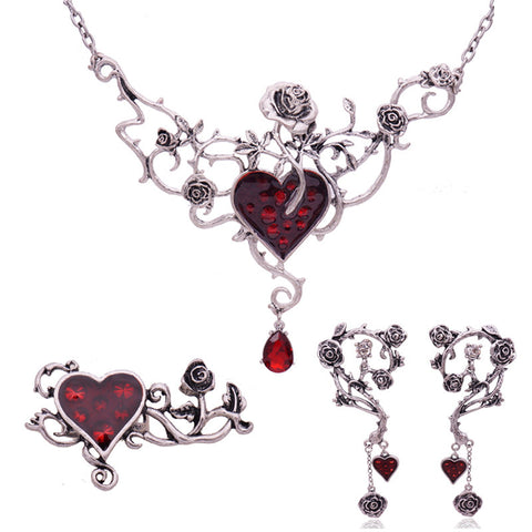 Vintage Heart Statement Set
