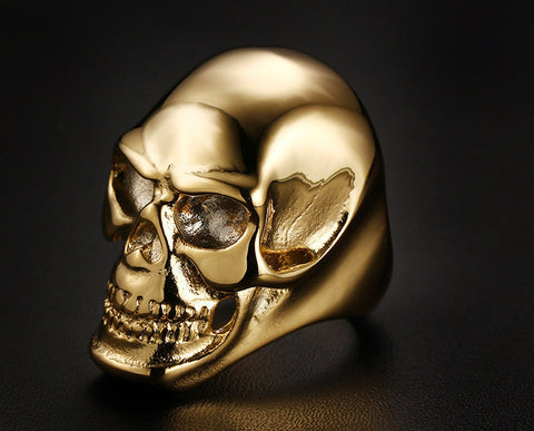 Big Skull Ring (Gold/Black)