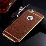 Leather Pattern TPU Cover for iPhone