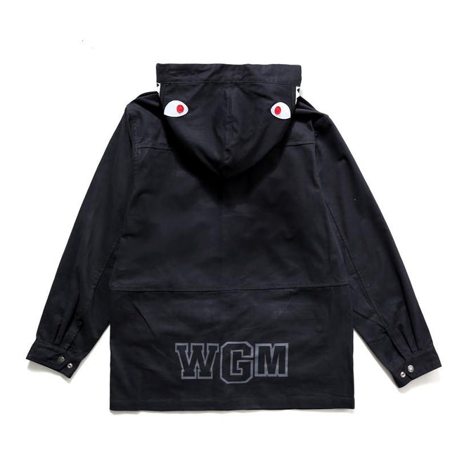 Babe Shark Hooded Black Jacket