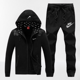 Nike Black on Black Hoodie Jacket and Jogger Tracksuit