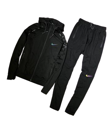 Nike Black on Black  Sportswear Hooded Tracksuit