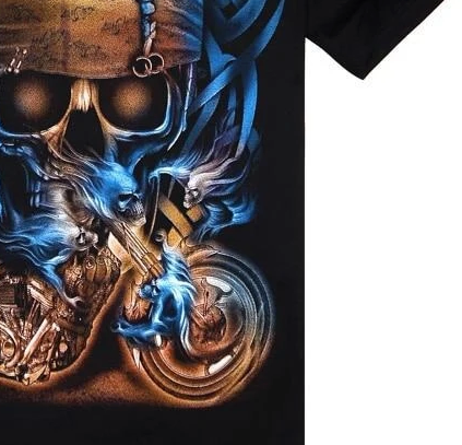 3D Printed Skull Bike T-shirt