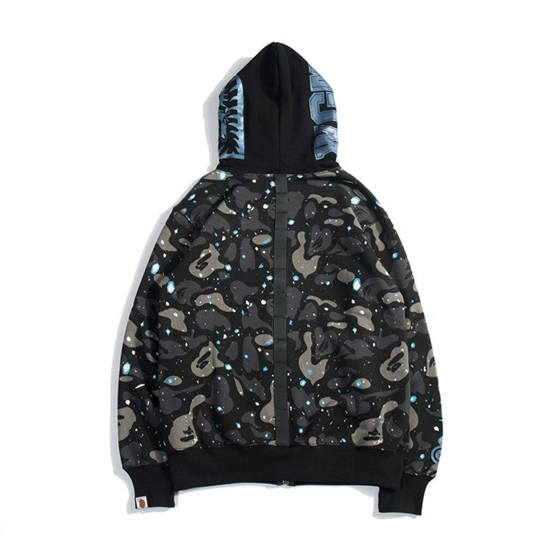 Bape Camo Luminous Black Sweater Hoodie