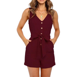 Sleeveless Short Jumpsuit