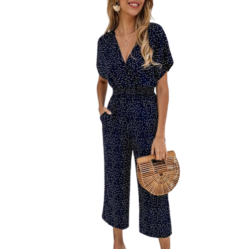 Overall Short Sleeve Jumpsuit