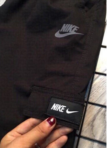 Nike Black and Grey Camo Cargo Pants