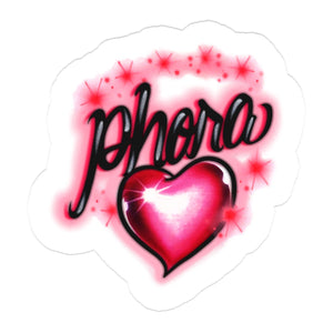 Phora Pink Airbrush Sticker - Yours Truly Clothing
