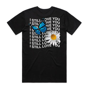 I Still Love You Warp Butterfly Tee - Black - Yours Truly Clothing