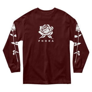 Phora Sleeves Roses - Burgundy - Yours Truly Clothing