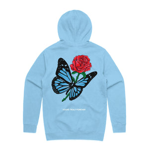 Butterfly Love Song Hoodie - Light Blue - Yours Truly Clothing