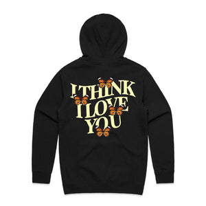 I Think I Love You Butterfly Hoodie - Black - Yours Truly Clothing