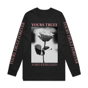 Forever Blessed Rose Long Sleeve - Black - Yours Truly Clothing