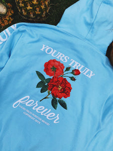 Yours Truly Aloha Hoodie - Light Blue - Yours Truly Clothing