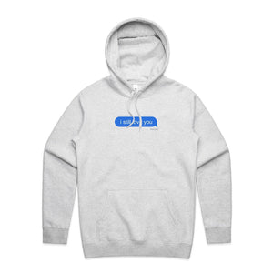 ISLY Delivered Message Hoodie - Heather Grey - Yours Truly Clothing