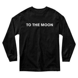 To The Moon Long Sleeve - Black MEN'S LONG SLEEVE TEE yourstrulyco