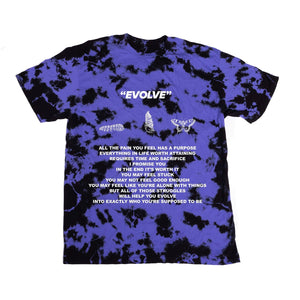 EVOLVE POEM TEE - PURPLE - Yours Truly Clothing