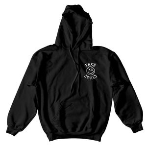 FAKE SMILES FACE HOODIE - BLACK