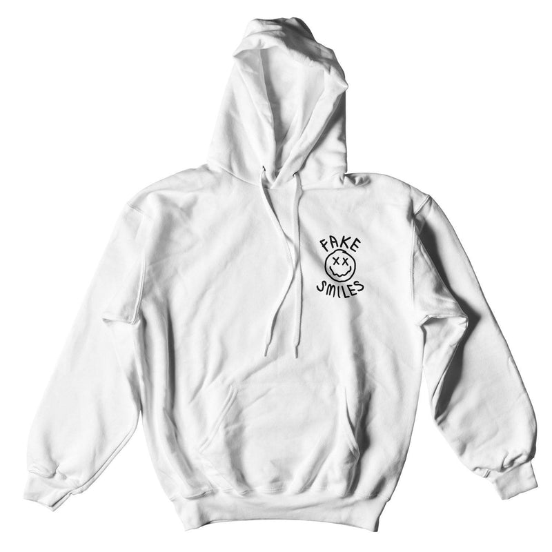 FAKE SMILES FACE HOODIE - WHITE