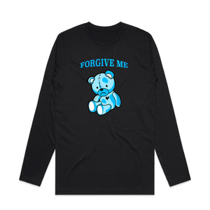 Forgive Me Blue Teddy Long Sleeve - Black - Yours Truly Clothing