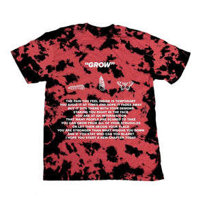 GROW POEM TEE - RED - Yours Truly Clothing