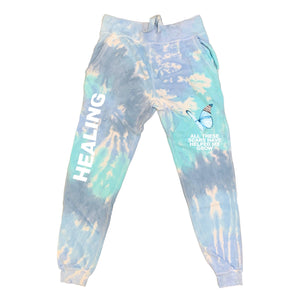 HEALING JOGGERS - SKY DYE - Yours Truly Clothing