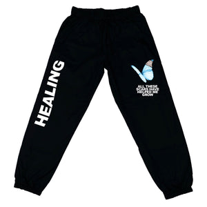 HEALING JOGGERS - BLACK - Yours Truly Clothing