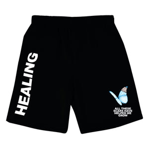 HEALING SHORTS - BLACK - Yours Truly Clothing