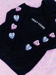 Candy Love Hoodie - Black - Yours Truly Clothing