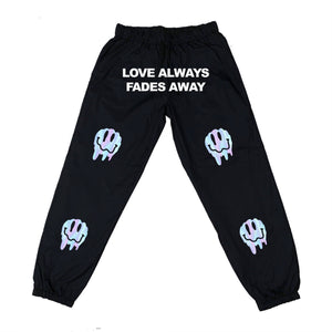 LOVE FADES REFLECTIVE IRIDESCENT JOGGERS - Yours Truly Clothing